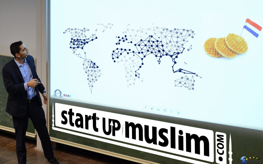 Omar Taha CEO of StartUp Muslim during the Masterclass in Amsterdam the Netherlands EICRI